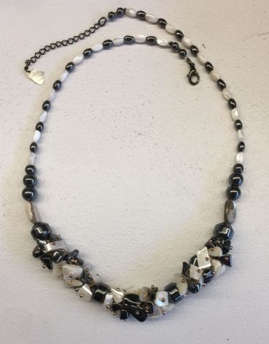 Hematite & Mother of Pearl Necklace